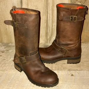 Steve Madden Buckette Moto Leather Boots Size 7
